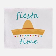 Fiesta Time Hat Throw Blanket