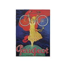 Peugeot Vintage Bicycle Poster 5'x7'area Rug