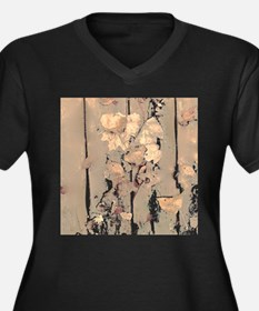 Abstracted Faded Leaves Plus Size T-Shirt