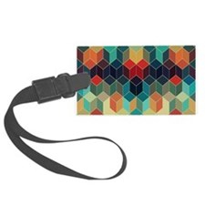 Colorful Cubes Geometric Pattern Luggage Tag