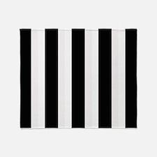 Black and White Stripes Striped clas Throw Blanket