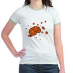 Black / Orange Discs Jr. Ringer T-Shirt
