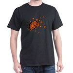 Black / Orange Discs Dark T-Shirt