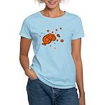 Black / Orange Discs Women's Light T-Shirt