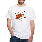 Black / Orange Discs White T-Shirt
