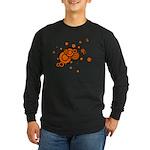 Black / Orange Discs Long Sleeve Dark T-Shirt