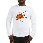 Black / Orange Discs Long Sleeve T-Shirt