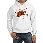 Black / Orange Discs Hooded Sweatshirt
