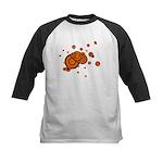 Black / Orange Discs Kids Baseball Jersey
