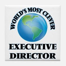 World's Most Clever Executive Directo Tile Coaster