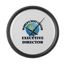 World's Most Clever Executive Dir Large Wall Clock