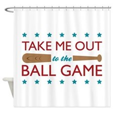 Take Me Out Bat Shower Curtain