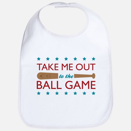 Take Me Out Bat Bib