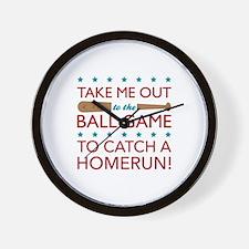 Catch a Homerun Wall Clock