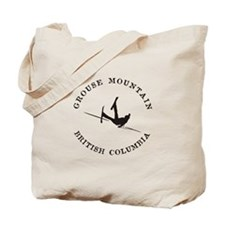 Grouse Mountain Funny Falling Skier Tote Bag