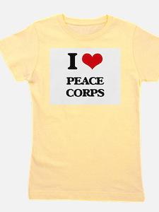 I Love Peace Corps Girl's Tee