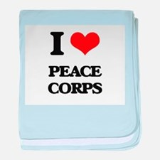 I Love Peace Corps baby blanket