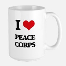 I Love Peace Corps Mugs