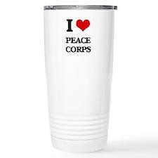 I Love Peace Corps Travel Mug