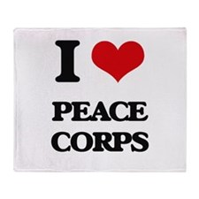 I Love Peace Corps Throw Blanket
