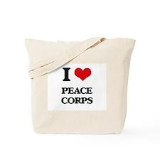 I Love Peace Corps Tote Bag