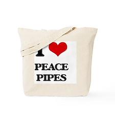 I Love Peace Pipes Tote Bag