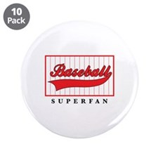 "Baseball Superfan 3.5"" Button (10 pack)"