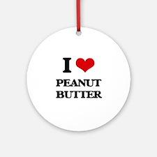 I Love Peanut Butter Ornament (Round)
