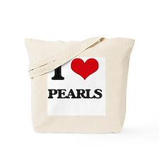 I Love Pearls Tote Bag
