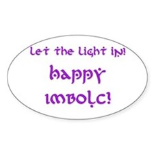 Let the LIght In 9 Oval Decal