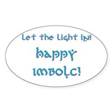 Let the Light In 11 Oval Decal