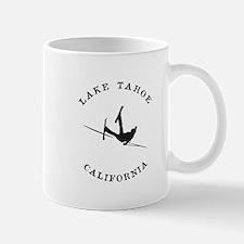 Lake Tahoe California Funny Falling Skier Mugs
