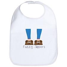 bear_Fuzzy Slippers Bib