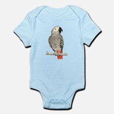 African Grey in Pencil Body Suit