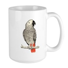 African Grey in Pencil Mugs