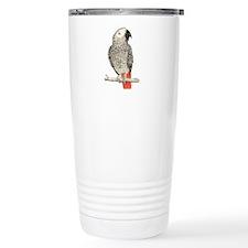 African Grey in Pencil Travel Mug