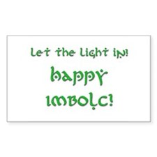 Let the Light In 12 Rectangle Decal