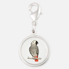 African Grey in Pencil Charms
