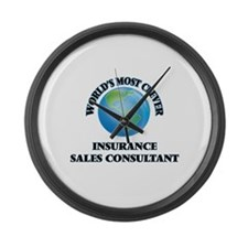 World's Most Clever Insurance Sal Large Wall Clock