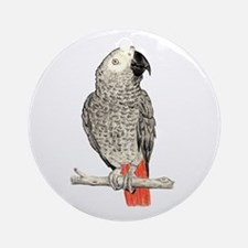 African Grey in Pencil Ornament (Round)