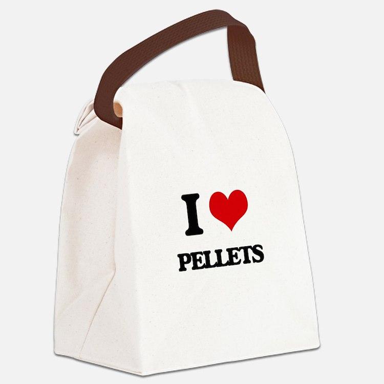 I Love Pellets Canvas Lunch Bag