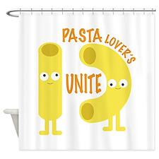 macaroni_pasta lovers unite Shower Curtain