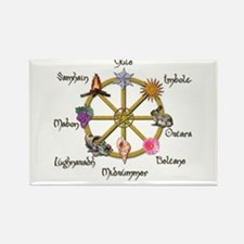 Wheel of the Year 1 Rectangle Magnet (100 pack)