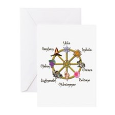 Wheel of the Year 1 Greeting Cards (Pk of 10)