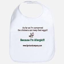 Funny Allergic peanuts Bib
