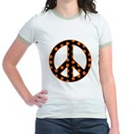 Black/Orange Peace Sign Jr. Ringer T-Shirt