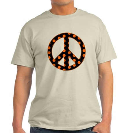 Black/Orange Peace Sign Light T-Shirt