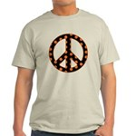 Black/Orange Peace Sign Light T-Shirt
