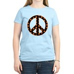 Black/Orange Peace Sign Women's Light T-Shirt