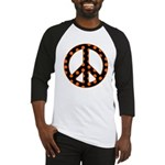Black/Orange Peace Sign Baseball Jersey